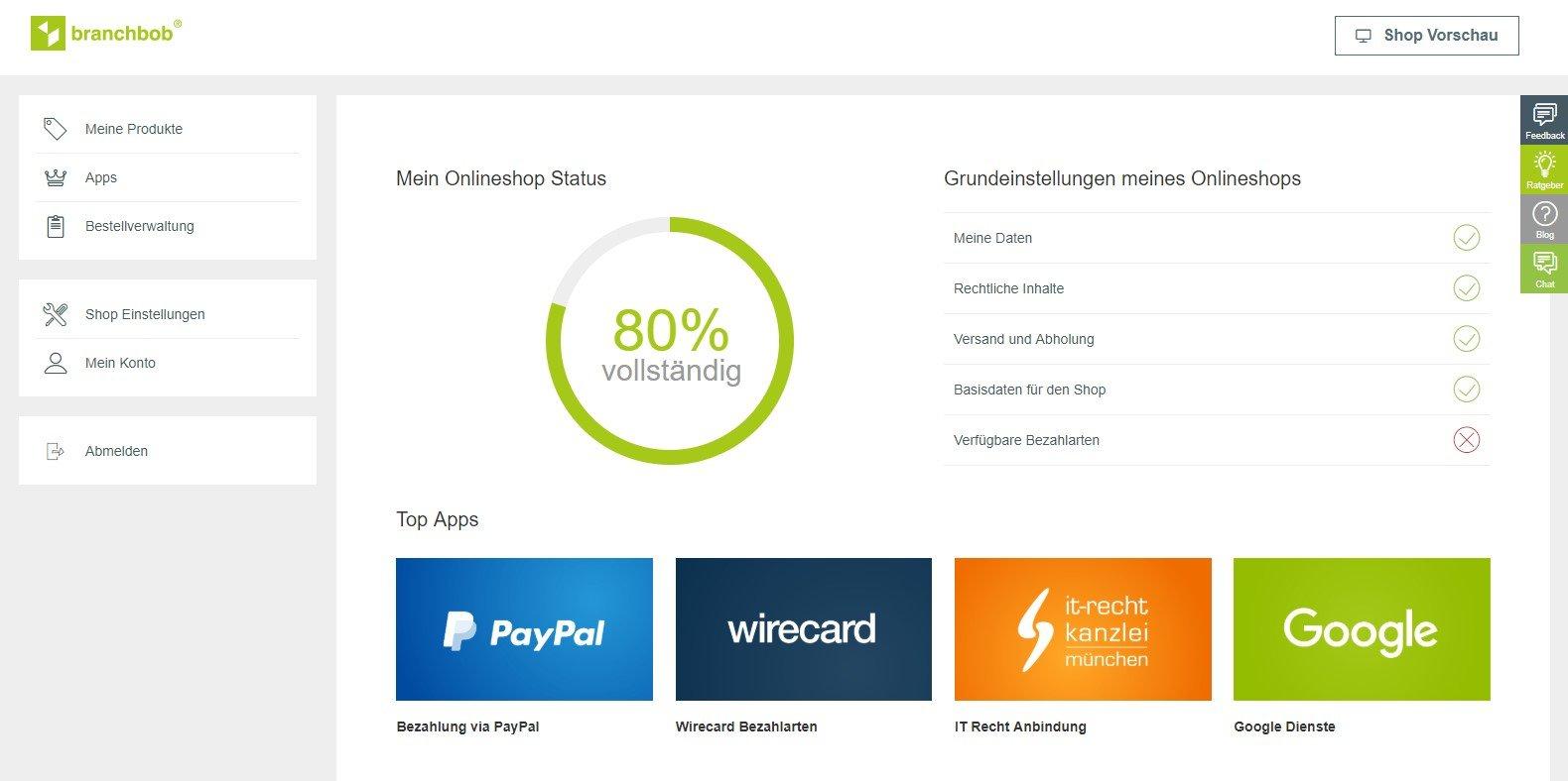 Branchbob Onlineshop Komplett Kostenlos Erstellen Mehr Infos Hier