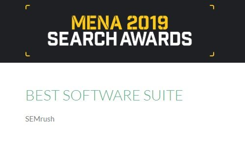 SEMrush Mena Search Awards