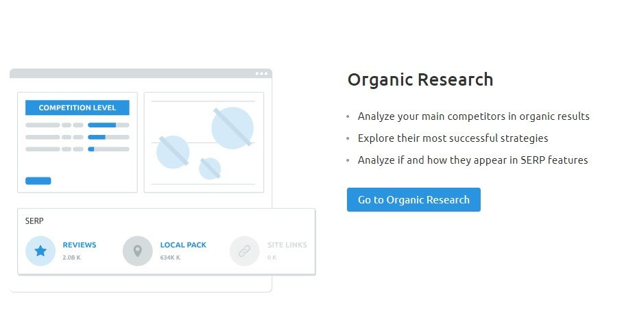 SEMrush SEO Toolkit Organic Research
