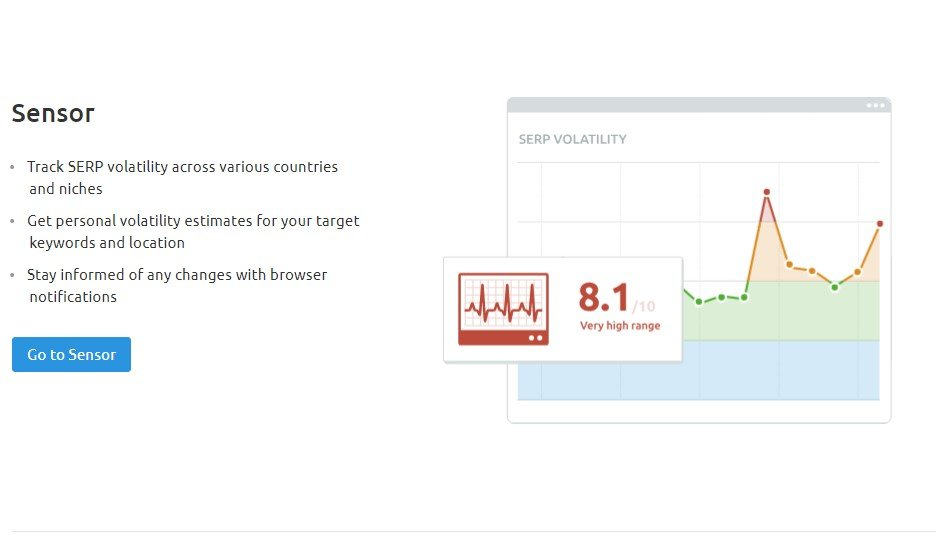 SEMrush SEO Toolkit Sensor