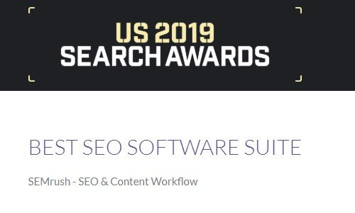 SEMrush US 2019 Search Awards