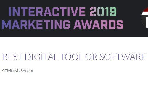 SEMrush interactive marketing awards